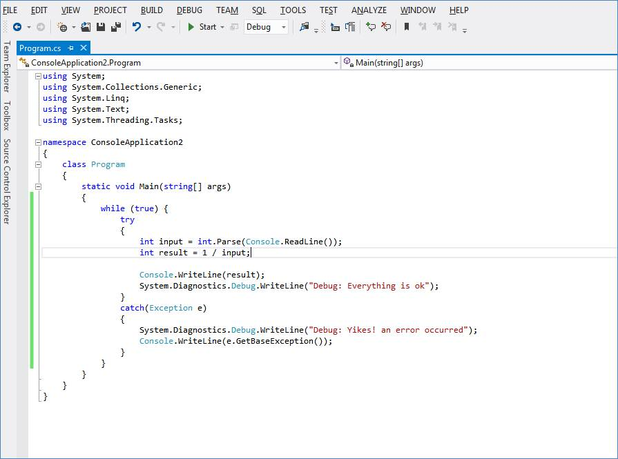Console application source code