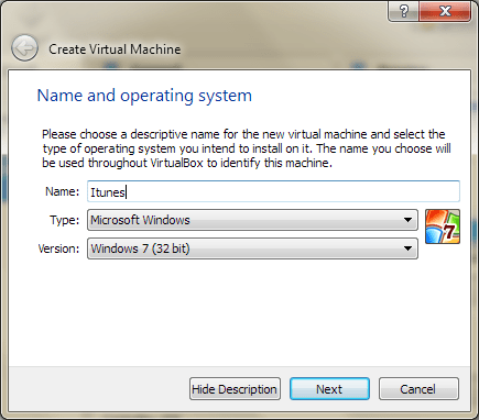 Oracle VirtualBox Screenshot