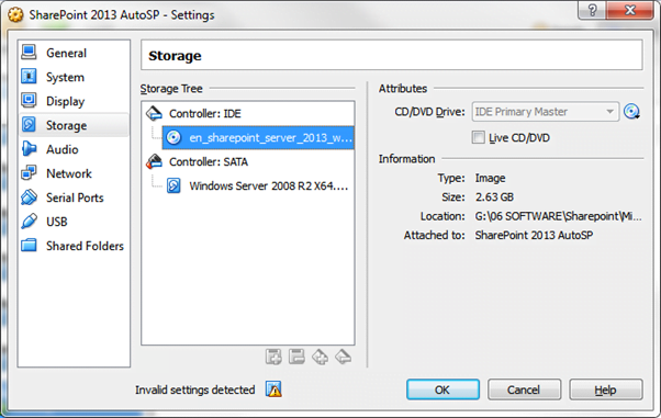 Oracle Virtualbox mount image
