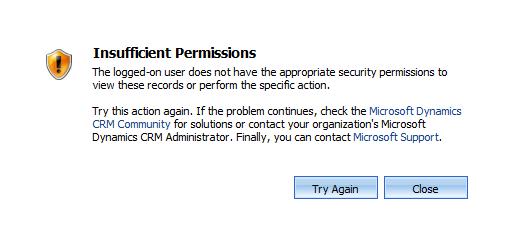 CRM Error