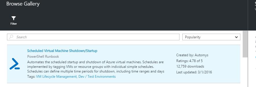 Azure - Scheduled VM Shutdown Start
