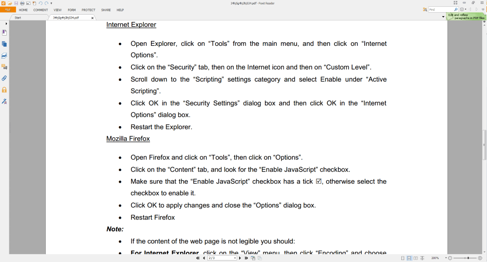 Foxit Reader Screenshot