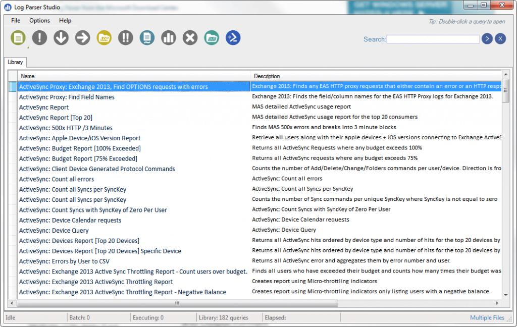 Log Parser Studio Screenshot