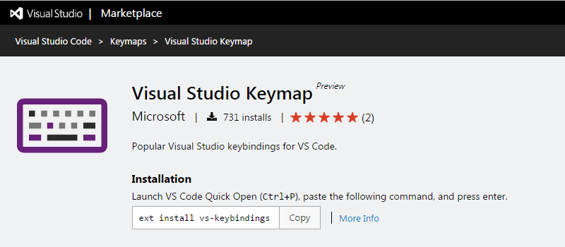 Visual Studio Keymap
