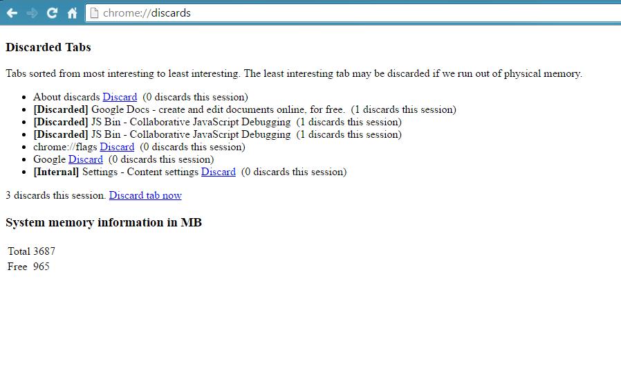 Chrome Discards