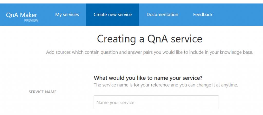 Azure QnA Manager Screenshot