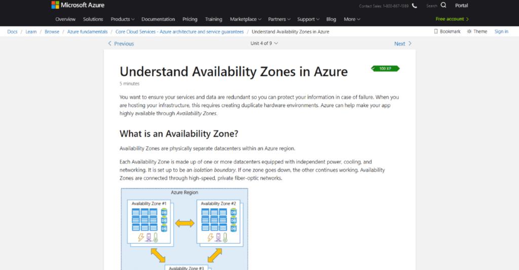 Microsoft Docs Screenshot