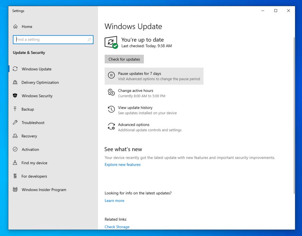 Windows Update Screenshot