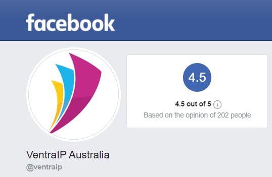 VentraIP Facebook Reviews Screenshot